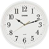 CASIO(カシオ) 掛け時計 ホワイト 直径33.1cm アナログ 連続秒針 IQ-88-7JF