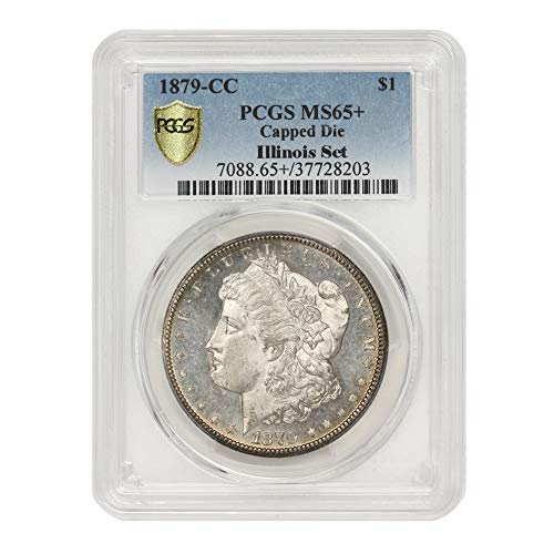 1879 CC Capped Die American Silver Morgan Dollar MS-65+ Illinois Set by CoinFolio $1 MS65+ PCGS