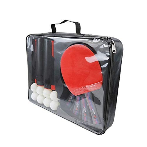 Lowest Price! TTZ Ping Pong Paddle Set with Retractable Net - Ideal for Professional and Recreationa...