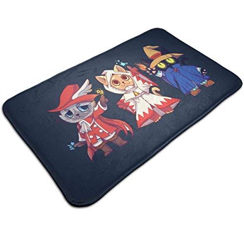 vjgdlz Felpudo Final Fantasy Red White Black Mage Cats Oficina Hogar Dormitorio Decorativo Duradero Antideslizante Felpudo Sala De Estar De Bienvenida Alfombra Interior Anime 40X60Cm Alf