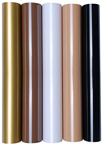 5 x A4 Transferfolie/Textilfolie zum Aufbügeln auf Textilien - perfekt zum Plottern, P.S. Film:5er Set Earth