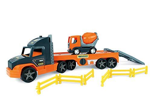Wader 36750 - Super Truck głębokozaładunek z betoniarką i kratką odcinającą, od 3 lat, ok. 78 cm