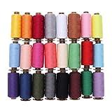 Artibest - 24 hilos de coser de poliéster para máquina de coser y bordar, 500 yardas para tapicería, colores mixtos