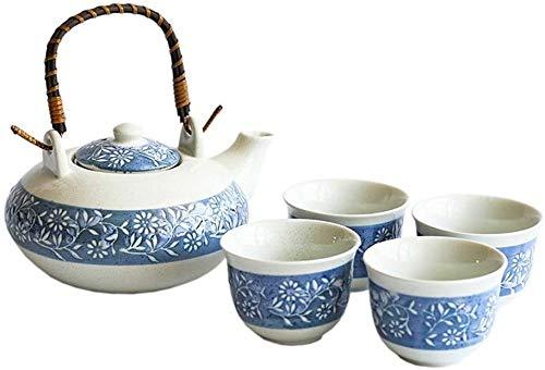 Teteras / Café Conjunto de taza de té de porcelana de cerámica - Estilo vintage Esmalte Tetera y taza Conjunto adecuado para regalos para el hogar para amigos en casa y jardín de oficina Sala de té pa