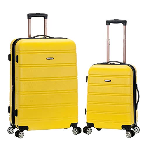 Rockland Melbourne Hardside Expandable Spinner Wheel Luggage, Yellow