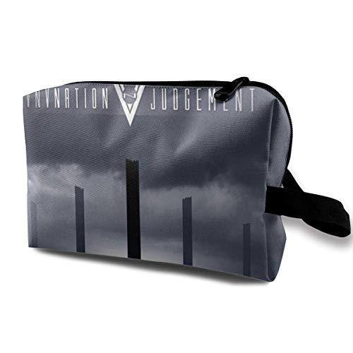 Bolsa de Maquillaje portátil con diseño de Abanico de música para Viajes de Mujeres