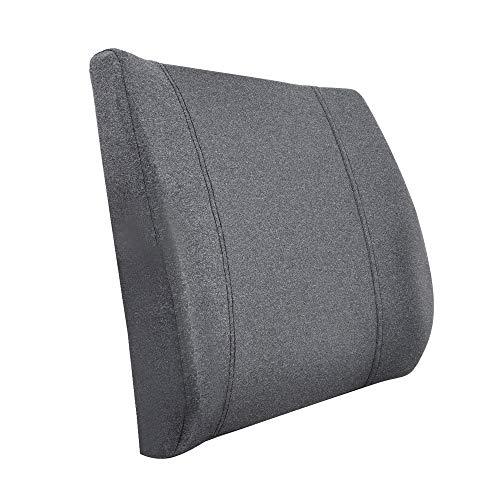 AmazonBasics - Cuscino lombare di supporto, in memory foam, grigio, sagomato