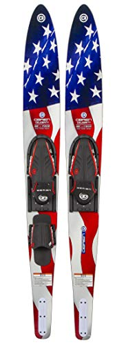 """O'Brien Celebrity Combo Water Skis, Flag, 68"""""""