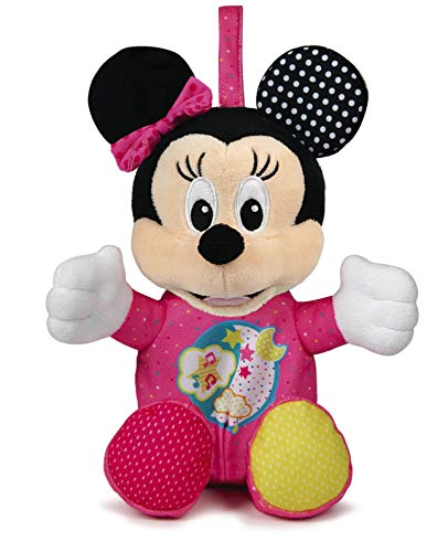 Clementoni-17207 - Baby Minnie Peluche Luces y Sonidos - peluche bebé interactivo de Disney a partir de 3 meses
