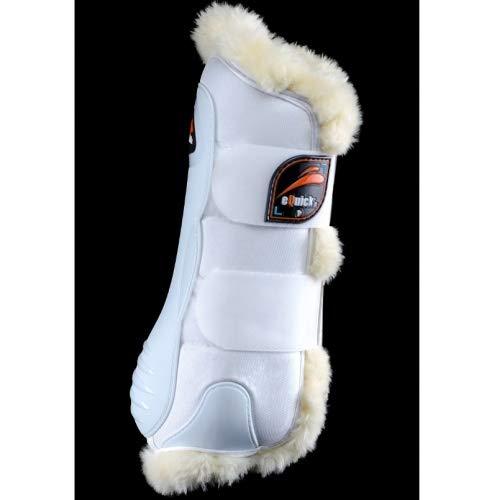 eQuick Dressur-Gamasche eKur Luxury Fluffy vorne Größe M, Farbe Weiß
