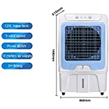 Lapden Grado Industrial evaporativo Ventilador de refrigeración - Aire Acondicionado portátil de Ventilador móvil - Comerciales Ventilador Exterior - Tanque de Agua 120L Auto Add Water,Buttons