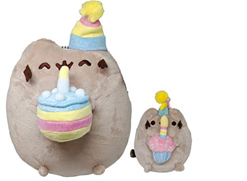 The Neko Cafe Pusheen Birthday Set – Birthday Cake Pusheen and Birthday Cupcake Backpack Clip – Bundle of 2 Items