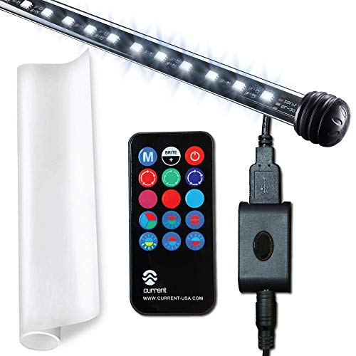 CURRENT USA Serene Aquarium Visual and Audio Aquatic Experience Kit   LED Background Light (48