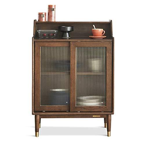 QuRRong Aparador Aparador Moderno Minimalista Mueble de té Restaurante Armario Nordic Oak Microondas Horno Gabinete para Dinette Living Room (Color : Marrón, Size : 65x40x94)