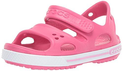 Crocs Crocband II Sandal PS K, Sandalias Unisex Niños, Rosa/Blanco (Paradise Pink/Carnation), 24/25 EU