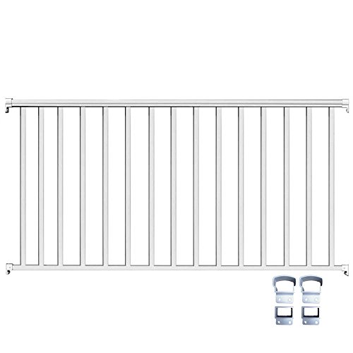 Contractor Deck Railing 8ft x 36in Aluminum Residential Railing - White
