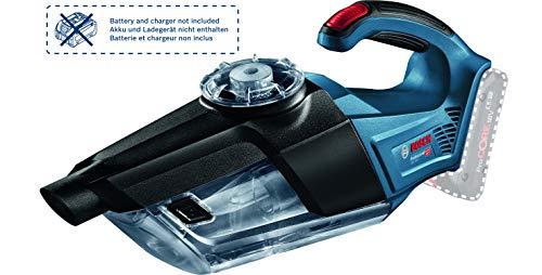 Bosch Professional 18V System Akku Handstaubsauger GAS 18V-1 (ohne Akkus und Ladegerät, mit Absaugrohr, Fugendüse, Teppichdüse, Behältervolumen 1 Liter, im Karton)