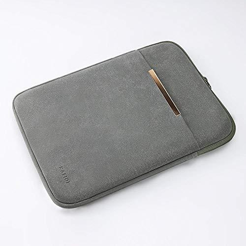Práctico Caja de la Manga del Ordenador portátil 14/15. / 15.6 Pulgada Cuaderno de Cuaderno Cubierta Protectora a Prueba de Agua para MacBook Air 13 15 (Color : Light Gray, Size : 15-Inch)