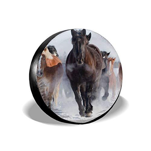 BI HomeDecor Spare Tire Cover,Cubierta para Llantas Mer-Maid Y Dolphins, Cubiertas Adaptables De Temporada para Llantas para Camionetas,70-75cm