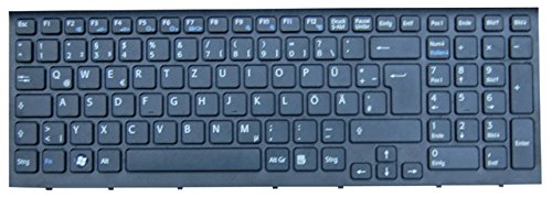 NExpert deutsche QWERTZ Tastatur für Sony Vaio PCG-71211M Serie Schwarz Neu