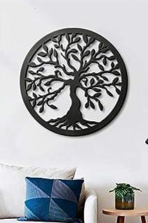 Lasaani Banyan Tree ACP Wall Plaque Painted Cutout Stickable Home Decor Wall Art (Glossy Black), WP045