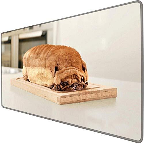 mauspad groß gaming Brot Mops Bulldogge niedlichen lustigen Tier erweiterte Gaming-Mauspad übergroße riesige xxl xl rutschfeste wasserdichte Schreibtischunterlage