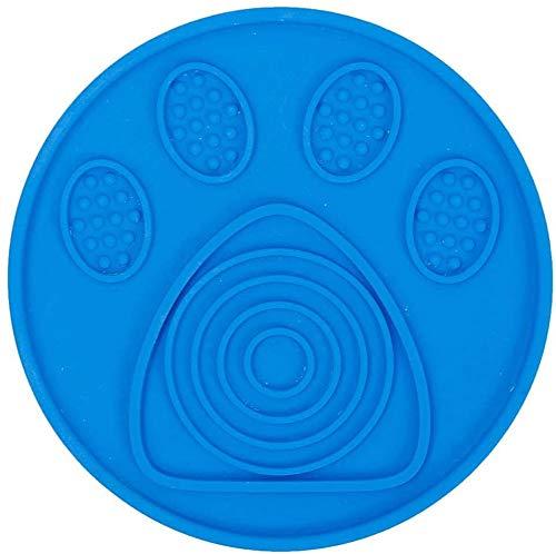 KRY hond likken pad, trage trager muur gemonteerd dispensie mat voedermat huisdier zwemmen hond training likken afleiding voor huisdier zwemmen hond niet-trace Stick muur badkamer accessoires, OneSize, Blauw