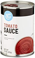 One 15-ounce can of Happy Belly Tomato Sauce Non-GMO project verified, BPA non-intent Satisfaction Guarantee: We're proud of our products. If you aren't satisfied, we'll refund you for any reason within a year of purchase. 1-877-485-0385 An Amazon Br...