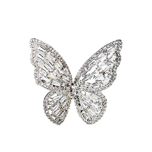 5W 蝶々 指輪 ピンクーリング レディース おしゃれ シンプル 高級感 シルバー 蝶々 アクセサリー ダイヤ