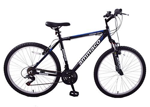 Ammaco. Crossfell 26' Wheel Mens Mountain Bike 21' Frame Alloy Front Suspension 21 Speed Black