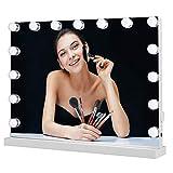 Meidom Hollywood Spiegel mit 15 LED-Lichtern, Touch-Steuerung, Tabletop Hollywood Schminkspiegel mit...