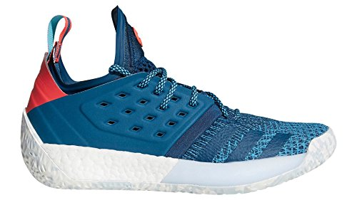 "adidas Harden Vol. 2""Blue Night Shoe - Men's Basketball 14 Blue Night/Bright Cyan/Shock Red"