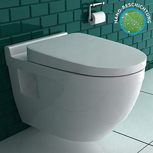 Hänge-WC (Tiefspüler) aus hochwertiger Sanitärkeramik mit...