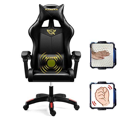XIAMIMI Silla del Personal Silla de la computadora Silla de Oficina Silla Inicio Ascensor y la función de rotación,Negro