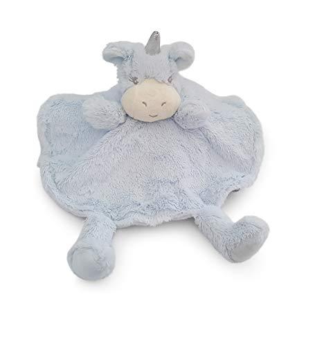 Sonnenscheinschuhe® 1 x Baby Schmusetuch Einhorn Hellblau-Silber Nr. 2 Kuscheltuch Babytuch Kuscheltier Pferd Tuch