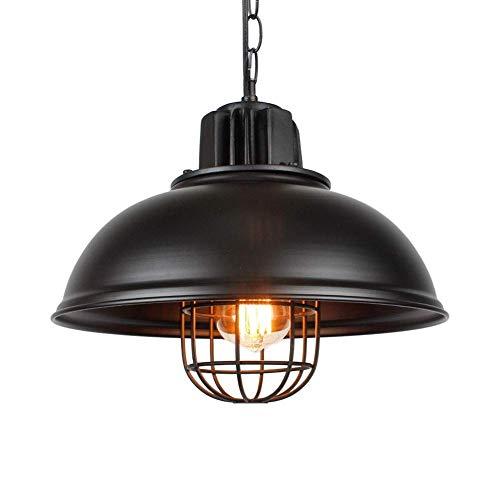 JJZXD Decoración Industrial Parrilla Colgante Lámpara de Techo de Interior Lámpara con Bombilla -, Bronce frotado con Aceite