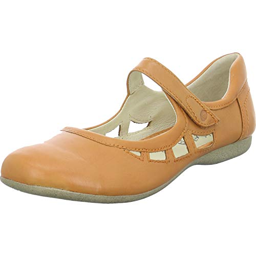 Josef Seibel Damen Ballerinas Fiona 55, Frauen Riemchenballerinas, Mary-Jane Halbschuhe Sommerschuhe weibliche Lady Ladies Women,orange,40 EU / 6 UK