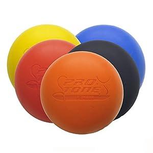 PROTONE Lacrosse Bola para Punto de activación Masaje/rehabilitación/Fisioterapia/Crossfit (Amarillo)