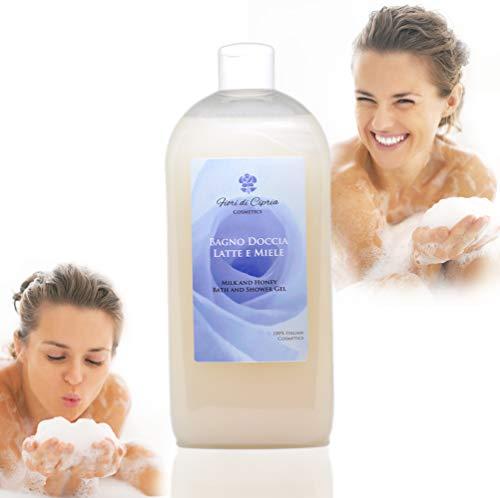 Il Miglior Bagnodoccia Nutriente per pelli sensibili - Bagnoschiuma Latte e Miele, che Nutre, Idrata la Pelle di tutto il Corpo. Ottimo nel bagno e nella doccia. Adatto per tutta la famiglia, anche per uomo - Prodotto Professionale (Centri Estetici o Farmacie) - 500 ml