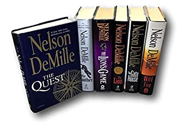 Rare SIGNED Nelson DeMille The Quest LOT 6 Panther Lion s Game The Lion Wildfire