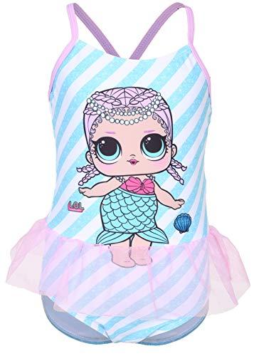 L.O.L. Surprise ! Offizieller Produkt Badeanzug Für Mädchen Mit LOL Dolls Merbaby, Splash Queen, Diva, Bienenkönigin, Dollface, Cosmic Queen, Grunge Grrrl Und Funky Q.t. (5/6 Jahre, Merbaby)