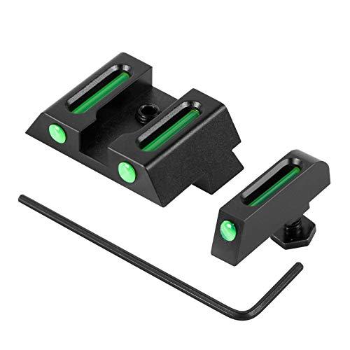 XOOBIU Night Sights for Glock Fiber-Optic Sights Front and Rear Sights