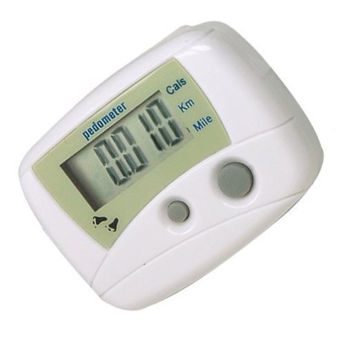 Best Prices! White Distance Pedometer Calorie Counter Walk Fitness Idea For Keeping Fit