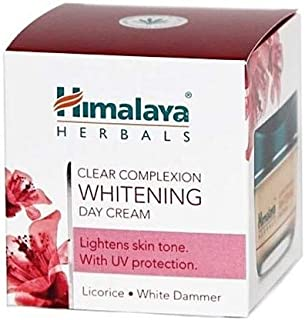 Himalaya Herbals Clear Complexion Whitening Day Cream, 50gm (Licorice. White Dammer). Lightens Skin Tone, with UV Protecti...