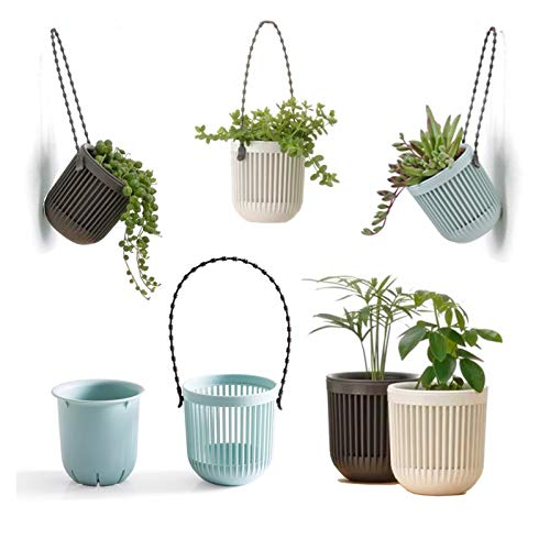 Melphoe 3.5'' Two-Piece Succulent Planters Pots with Drainage, Flexible Removable...
