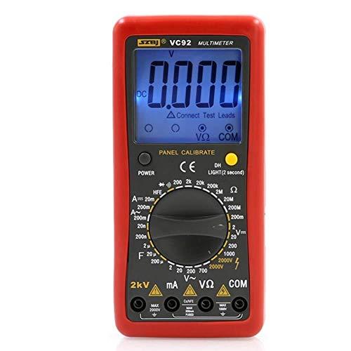 PYROJEWEL Digitales en pantalla grande del multímetro de la fase de medición de voltaje 2000 V AC y DC Voltaje 2KV Medidor de alto voltaje multímetro