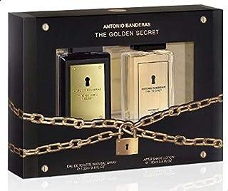 مجموعة انطونيو بانديراس هدية السر الذهبي للرجال (عطر او دو تواليت 100 مل ومرطب مابعد الحلاقة 100 مل)