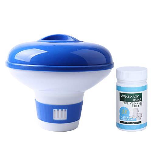 CHENGGONG Dispensador de Productos químicos para Piscinas, Herramienta de Limpieza de Piscinas, fácil de llenar Dispensador de Productos químicos para Piscinas para SPA, tabletas de Cloro
