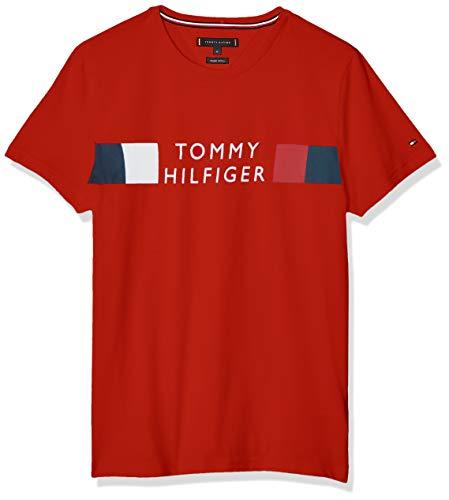 Tommy Hilfiger - Camiseta para hombre, color rojo