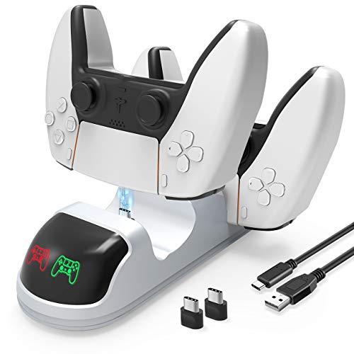 Gifort Cargador Mando PS5, Soporte Mando PS5, Estación de Carga Rápida USB...